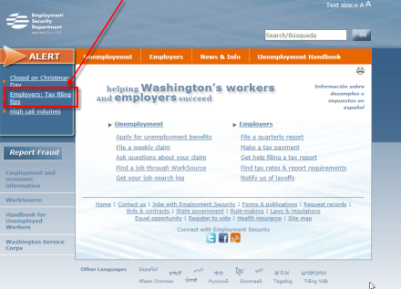 Check the 'Employers' Alert to find out about current system issues.